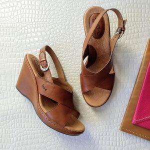 BOC ▪ Leather Wedge Sandals